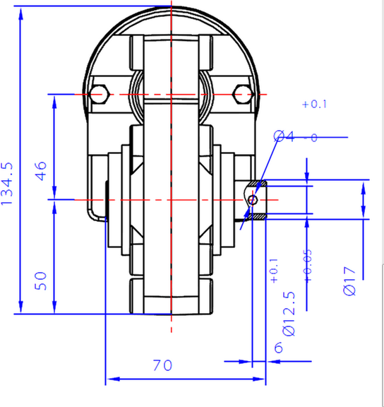 Dayton worm drive dimensions front