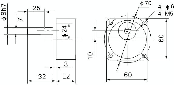 gpg 60mm 6 watt ac induction motor
